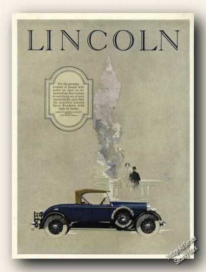 Lincoln Car Promo Nice Period Art (1926)