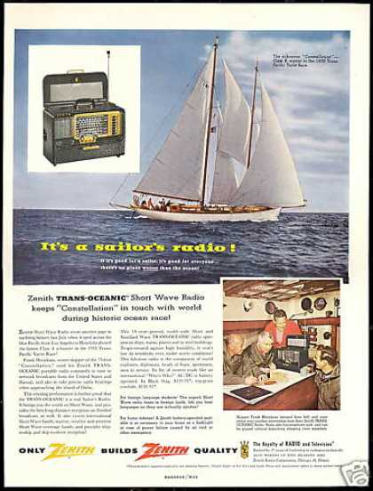Constellation Sail Boat Yacht Zenith Radio (1956)