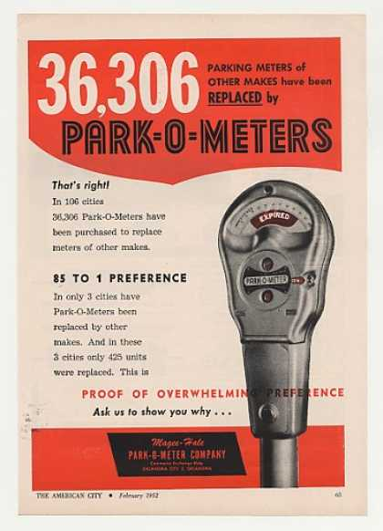 Park-O-Meter Parking Meter Replace Others (1952)