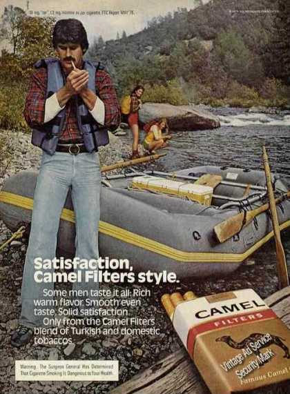 Camel Filters River Raft Girls Looking (1980)