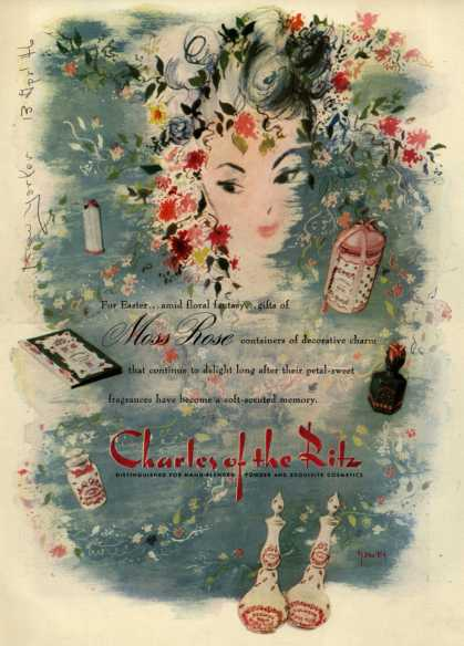 Charles of the Ritz's Moss Rose Cosmetics – For Easter... (1946)