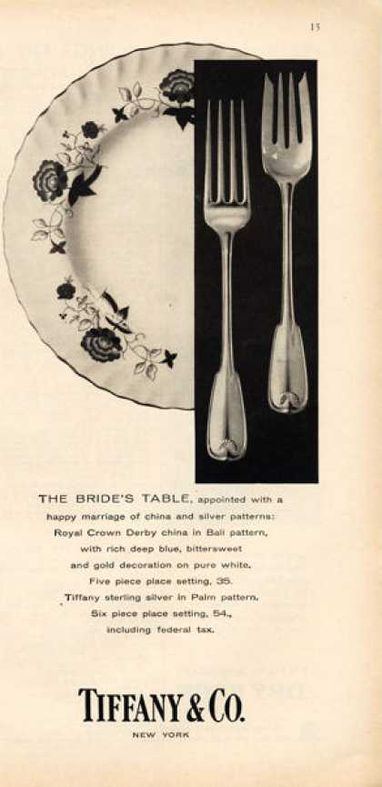 Tiffany Co. Bride's Table China Sterling Silver (1957)