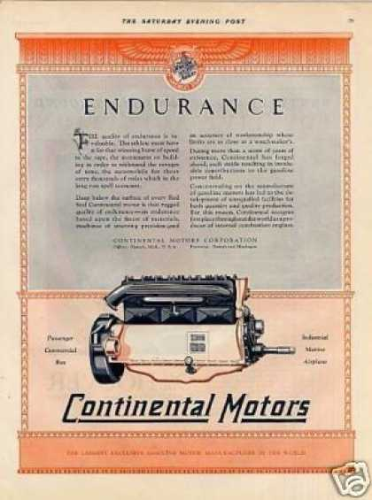 Continental Motors Color Ad 2 Page (1928)