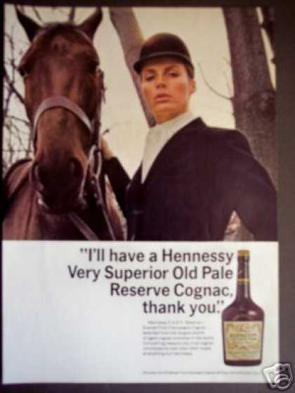 Horse and Rider Photo Hennessy Cognac (1968)