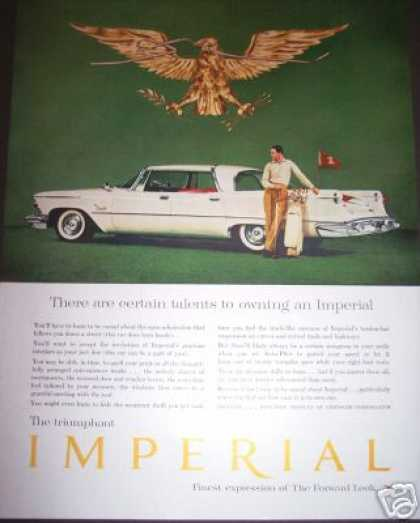 Chrysler Imperial Car Ad Golf Golfer (1958)