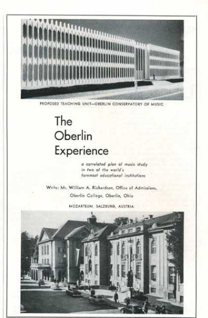 The Oberlin Conservatory Experience (1961)