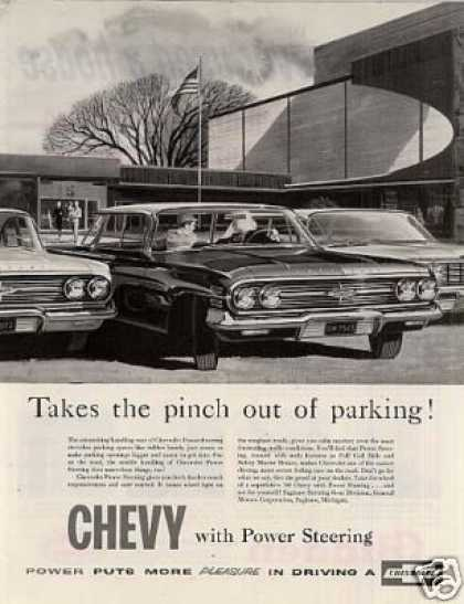 "Chevrolet Car Ad ""Takes the Pinch Out... (1960)"