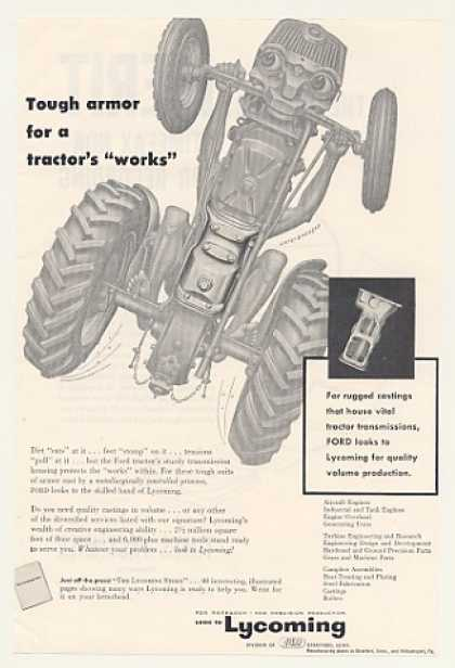 Ford Tractor Transmission Lycoming Artzybasheff (1954)