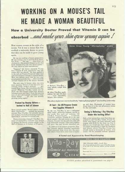 Vita Ray All Purpose Womens Face Cream (1935)
