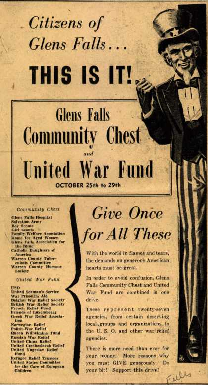 NA's United War Fund – Citizens of Glens Falls... This Is It (1943)