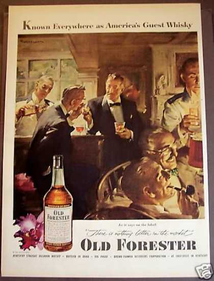 Old Forester Whisky Gentlemen Drinking (1953)