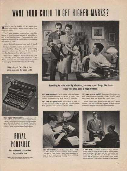 Royal Portable Standard Typewriter (1944)
