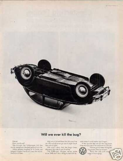 "Volkswagen Car Ad ""Will We Ever Kill the Bug... (1964)"