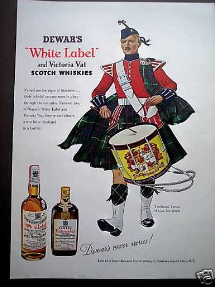 Clan Macintyre Drummer Dewar's Scotch Art (1953)