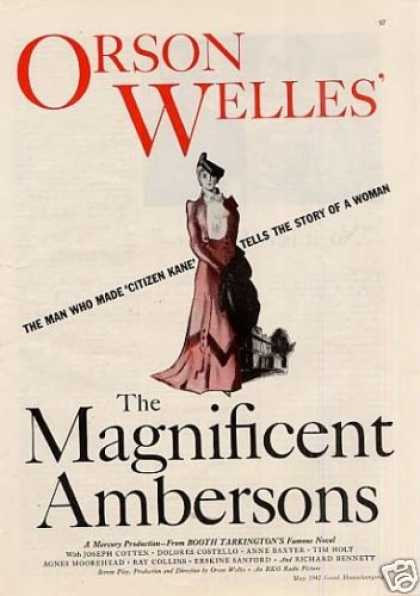 "Movie Ad ""The Magnificent Ambersons"" (1942)"