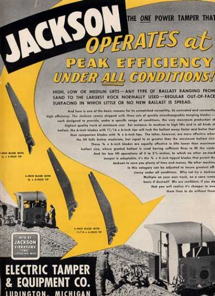 Electric Tamper & Equip Co Jackson (1952)