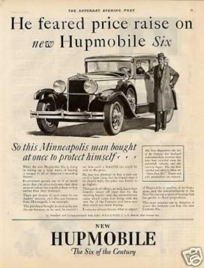 "Hupmobile Car Ad ""He Feared Price... (1928)"