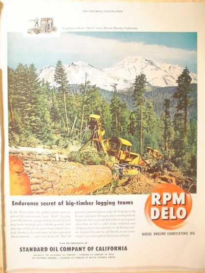Standard Oil Co RPM Delo Diesel Engine Lube Oil (1950)