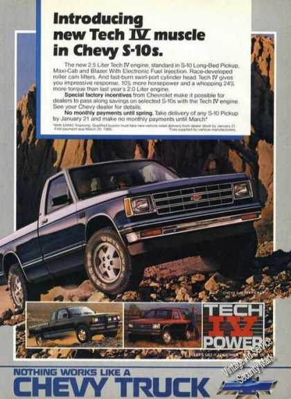 Chevy S-10 Blazer/pickup Truck Advertising (1985)