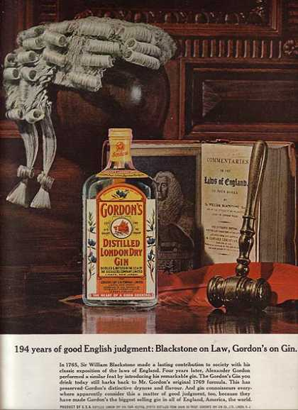 Gordon's Distilled London Dry Gin (1963)