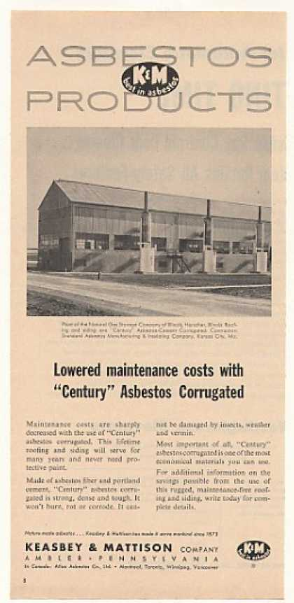 Natural Gas Storage Keasbey & Mattison Asbestos (1954)