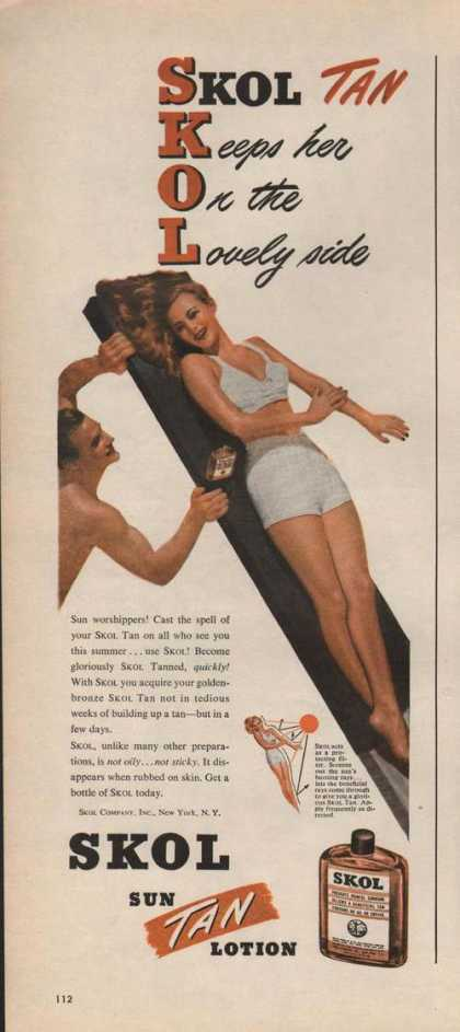 Skol Sun Tan Lotion (1946)