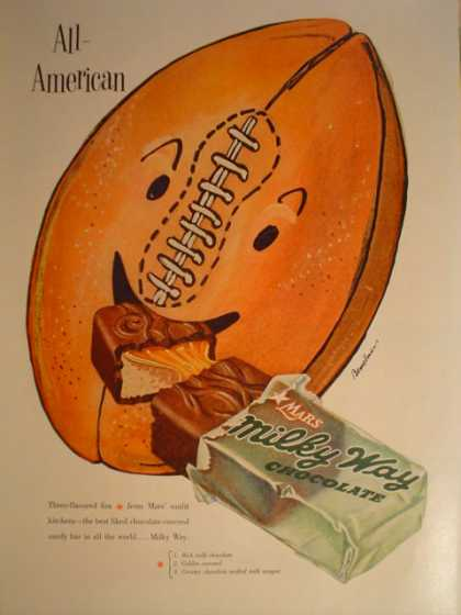 Milky Way Candy Bar Football theme (1953)