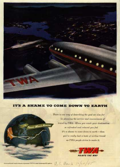Transcontinental & Western Air – It's A Shame To Come Down To Earth (1945)