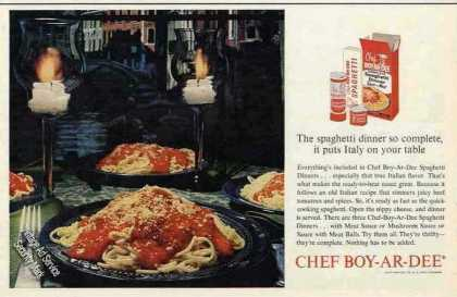 Chef Boy-ar-dee Spaghetti Dinner Nice Photo (1963)