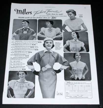 Miller Fashion Mail Favorites (1951)