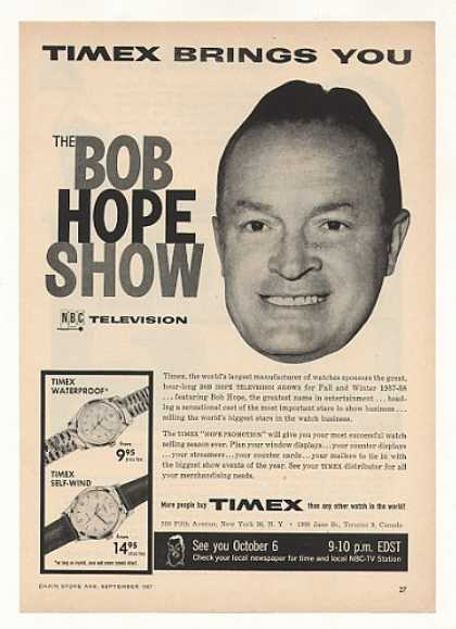 NBC TV Bob Hope Show Timex Watches (1957)