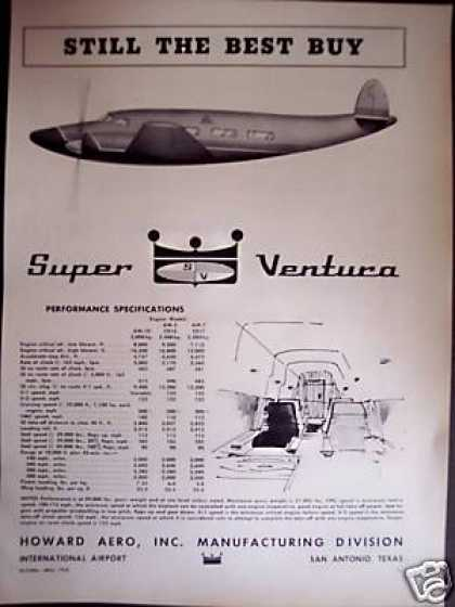 Howard Aero Inc. Super Ventura Airplane Plane (1958)