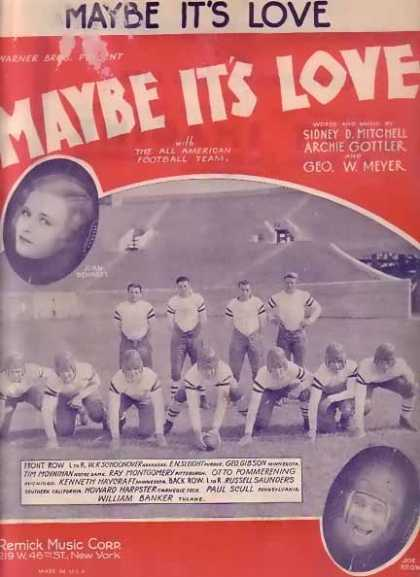 Maybe It's Love – Joan Bennett Movie Sheet Music (1930)