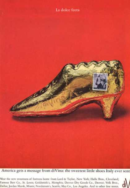 Di Vina Italian Chocolate Gold Shoe (1964)