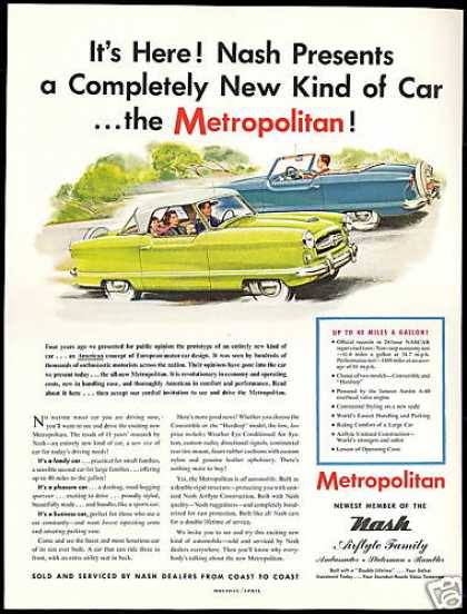 Nash Metropolitan Completely New Car (1954)