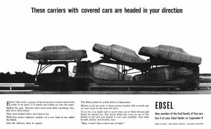 Edsel teaser from August 1957 (1958)