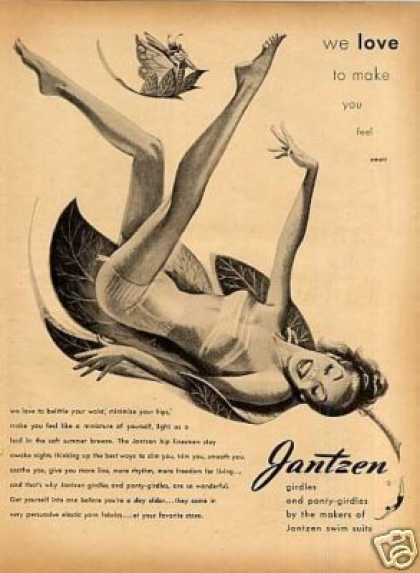 "Jantzen Girdle Ad ""We Love To Make You... (1947)"