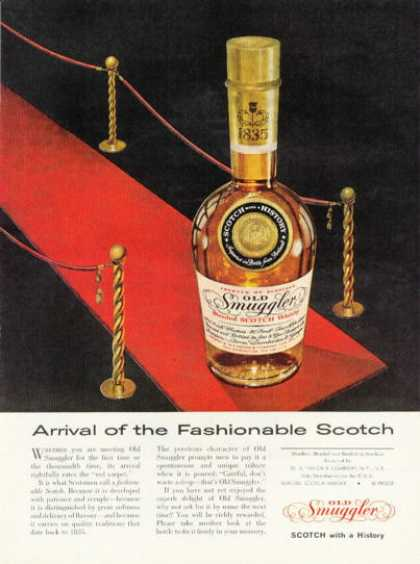 Old Smuggler Scotch Whiskey Bottle (1958)