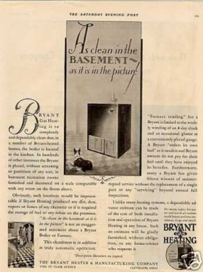 Bryant Heating Ad Boston Terrier (1930)