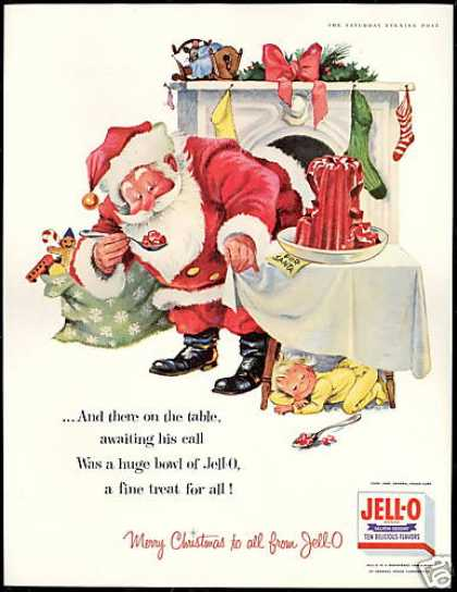 Jell-o for Santa Christmas Jello (1956)