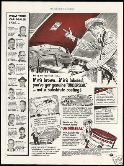 Brown Underseal Car Undercoat Vintage Print 3M (1950)