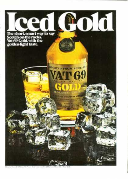 Vat 69 Gold Scotch Whiskey (1972)