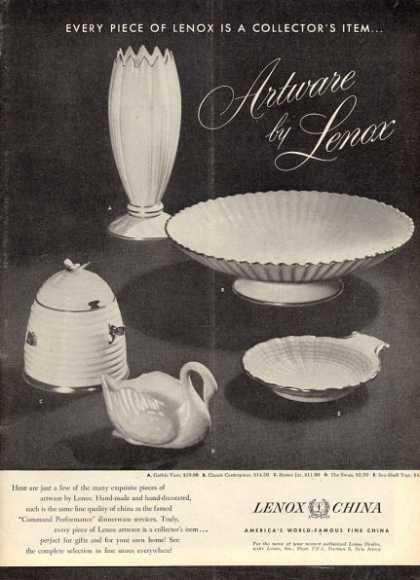 Artware By Lenox Details Five Pieces (1952)