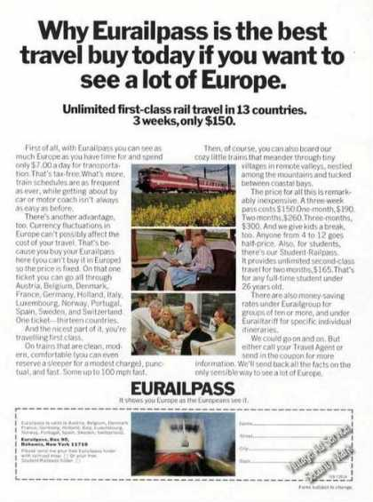 Why Eurailpass Is the Best Travel Buy (1974)