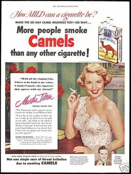 Martha Tilton Photo Vintage Camel Cigarettes (1950)