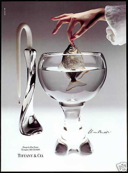 Elsa Peretti Candlestick Vase Fishbowl Photo (1991)