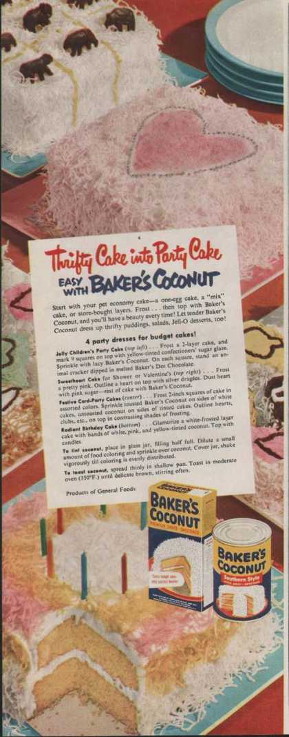 Bakers Coconut Southern Style (1951)