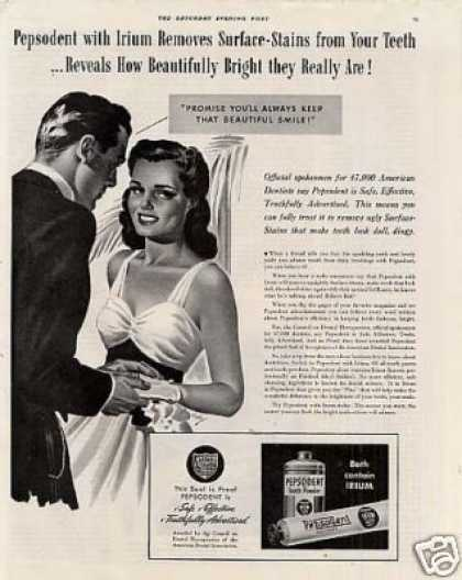 Pepsodent Tooth Paste (1940)