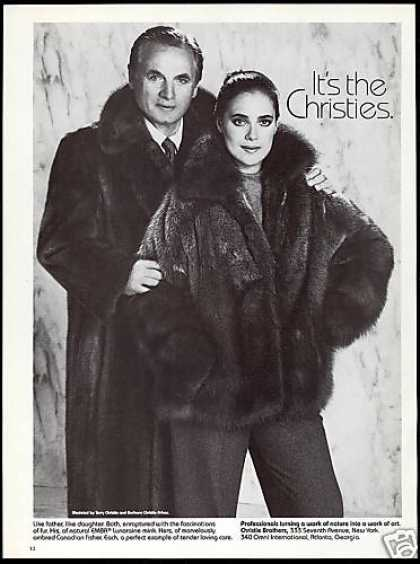 Christie Brothers Mink Fur Father Daughter Coat (1983)
