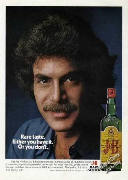 J&b Scotch Rare Taste Attractive Man (1975)